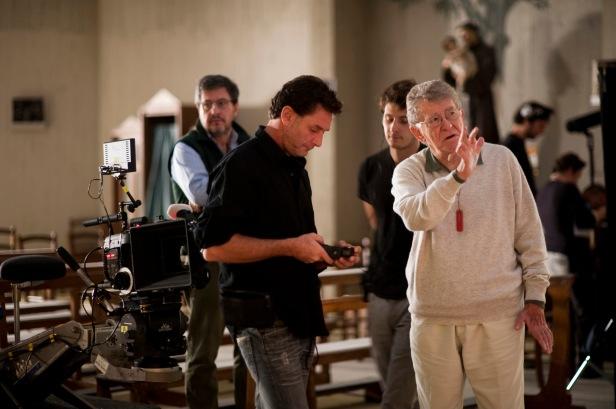 Ermanno Olmi con il Direttore della Fotografia Fabio Olmi.